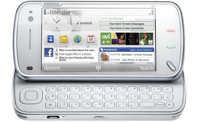 nokia n97 white keyboard 163584